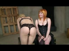 Lesbian Thrashing And Belt On