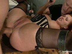 Slave Katja Kassin acquires her fudge packed