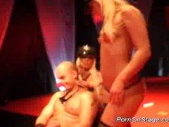 Porn on stage lesbian stripper