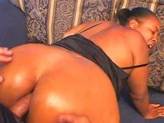 White dude laying this black fatty