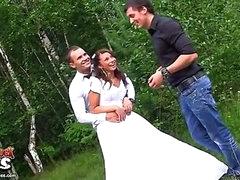 Coarse anal fucking at wedding orgy