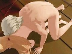 Aged master slaps and fucks his slave