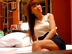 These Oriental amateurs' home porn begins with 'em teasing each other and undressing to underwear. The guy caresses his hawt girlfriend's slim body and pulling down her bra, reveals her tits.