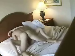 Enjoyable skinny blonde with good forms fucks with her appealing man in hotel, choosing different poses to acquire abundant pleasure.