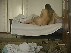 Concupiscent blonde chick joins her boyfriend in the bed to have a wild fuck session with him. She greedily sucks his piston then acquires fiercely slammed in every position.