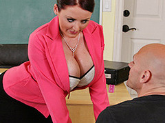 Johnny's new substitute teacher is one hawt large-titted cutie... That Playgirl has Johnny daydreaming about a hawt fuck session in the class!!! Turns out poor Johnny wasn't dreaming entirely after all...