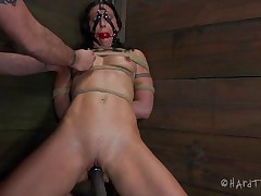 She was a bad beauty and now that sweetheart needs to stay in the corner, and smth else too! Wenona receives a harsh punishment as her nipps are squeezed and her pussy filled with a big dildo. Watch her abandoned there, how long will that sweetheart endure her situation and what they have prepared for her next?