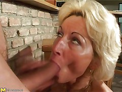 Stefana is a blonde mature wench that loves to sucks jocks each time this hottie can. Now this hottie has in her throat a lengthy dong that this hottie sucks it very nice whilst this hottie sitting on her knees. The younger guy is willing now to permeate her unfathomable so he begins fucking her pussy from behind making Stefana screaming of pleasure.