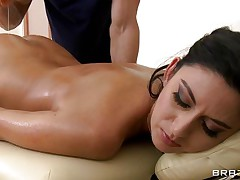 Nikki Daniels is hot bitch with a hot gazoo and very hot body. Look how much she enjoys having a couple of hand on her gazoo and how he touches her constricted pussy getting her horny. Are her lengthy legs and her hot body gonna bring her any cock?