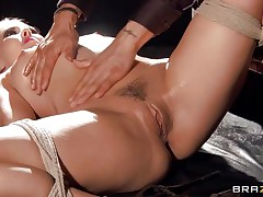 This golden-haired is enjoyable and slutty, watch her all tied up and glad with her situation. The masseur takes advantage of her oiled body and rubs her bumpers and pussy. That guy takes his time and delights with her consummate ass. Perhaps soon he will place in his finger in her snatch really unfathomable and make her moan.
