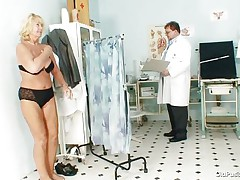 Greta often visits her doctor to check her body. Whilst she reaches there her doctor ordered her to put all her clothes off and then this chap starts his pussy scrutiny right after this chap squeezes her nice boobs. U rally needs to see where this doctor ends up his examination.