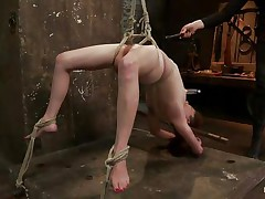Wee all have a enjoyment seeing a cute bitch getting what she merits but this one acquires a harsh treatment, her hot oiled body is tied up and she's hanging while her executor uses a vibrator on her enjoyable cunt, fingering her muff in the mean time. Her hot tits have suckers on 'em and her legs are spread granting full access to her cunt. What will happen to her next? Want to see?