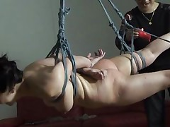 The executor didn't just abused this brunette Nippon milf, he brooked her self esteem and no she accepts her fate. That babe hangs there and then she is lowered solely to stay in cowgirl position. After some more humiliation she receives a hardcore fuck from behind that makes her charming face aperture groan and her tits bounce