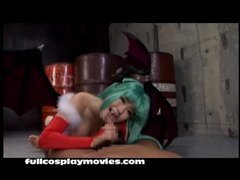 Darkstalkers Morrigan Cosplay Irrumation