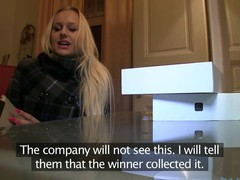 Golden-Haired with Biggest billibongs thinks this hottie has won an iPad.  Well this hottie will if this hottie rides my big dick.