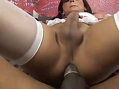 Attractive sex-obsessed ladyboy suck and bonks like hell