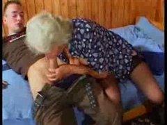 Breasty German Granny bonks young Stud