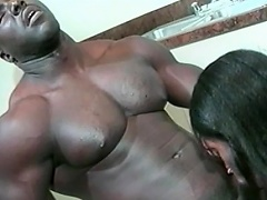 This hot black sweetheart loves her guy to be big and black. See this...