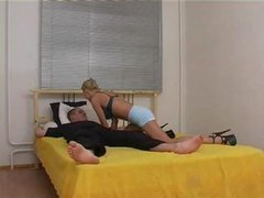 Golden-haired Russian Drilled And Fisted