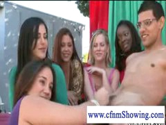 CFNM beauties merely paty testing out stud schlongs