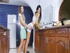 wild lezzies in the kitchen