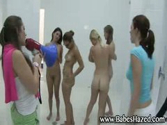 Lesbo shower for college angels