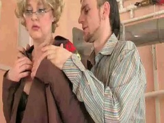 Sexy granny sucks and bonks ramrod