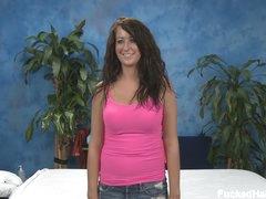 Nice girl Amber with moist billibongs undresses naked