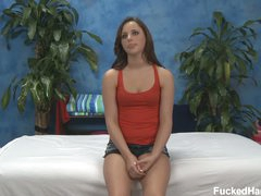 Hope removes her pants in advance of massage